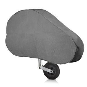 kwmobile Deichselabdeckung für Wohnwagen Anhänger - mit Gummispanner - Kunststoff Deichsel Abdeckung Schutzhülle - Deichselhaube Anhängerdeichsel