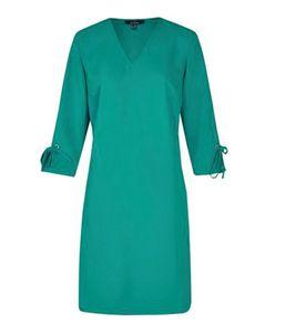 DANIEL HECHTER Mini-Kleid modisches Damen 3/4-Arm-Kleid Grün, Größe:38