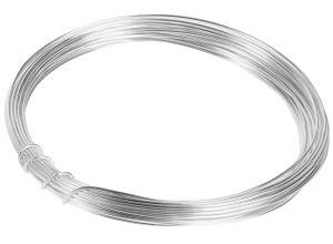 10m Meter Basteldraht 1mm, Schmuckdraht Aludraht Dekodraht Aluminiumdraht rostfreier Draht in Silber