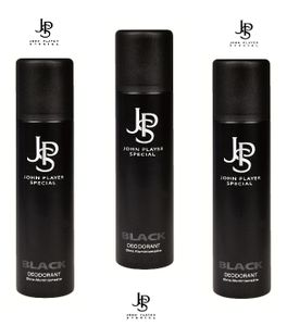 John Player Special Black Deodorant Spray 3 x 150ml