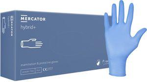 Vinyl-Handschuhe einfache puderfreie Einmalhandschuhe MERCATOR hybrid+, Größe:M - 100 Stück