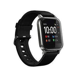 Globale Version Haylou LS02 Smart Watch 2 1,4-Zoll-LCD-Bildschirm Bluetooth 5.0 12 Sportmodi IP68 Wasserdichtes 20-Tage-Standby-Armbanduhr-Herzfrequenz-Fitnessarmband【Schwarz】