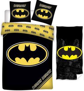 Batman - Kinder-Bettwäsche-Set, 135x200 cm und Handtuch, 70x140 cm