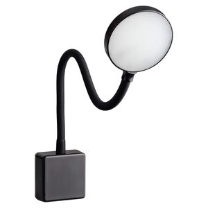 SEBSON LED Steckdosenlampe dimmbar schwarz, Steckerlampe 4W flexibel Leselampe Leuchte