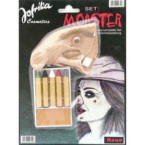 Hexen Make-Up Set (Warzen-Nase & Schminke)