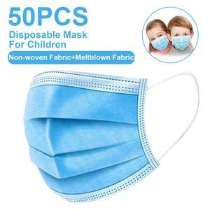 50x Kinder Einweg Atemschutzmaske Atem Mundschutz 3-lagig Schutzmaske Gesichtsmaske