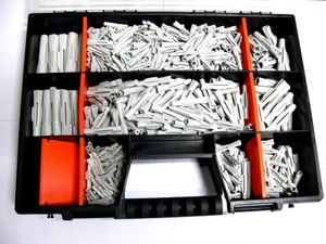 Dübelsortiment 800-teilig , 5 - 14mm , mit Durchsteckdübeln