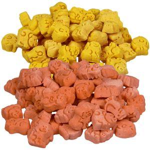Schecker 2 kg - getreidefreie fettarme Hundekekse 2 x Ente und 2 x Huhn - kross