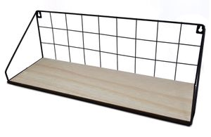 Wandregal Metall 45cm mit Holzboden