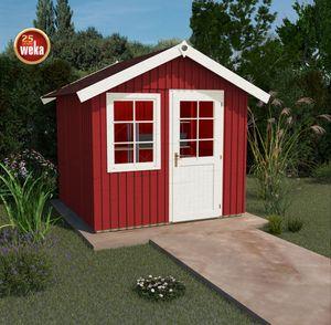 Weka Gartenhaus 22mm Schwedenhaus 410 Gr. 2 rot 368x342cm
