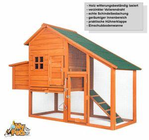Hühnerstall CHICKEN Hühnerhaus Hühner Stall Käfig Geflügelstall Auslauf Voliere