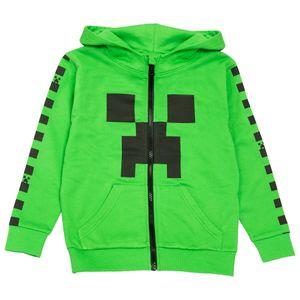 Minecraft - Kapuzenpullover, mit Reißverschluss, für Jungen PG1085 (140) (Grün)