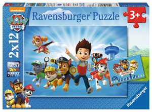 2 X 12 Teile Ravensburger Kinder Puzzle Paw Patrol Ryder und Paw Patrol 07586