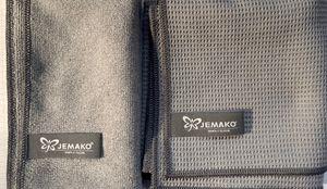 Jemako Tücherset : Trockentuch 45 x 60 + Profituch 35 x 40 in GRAU + DiWa Wäschenetz
