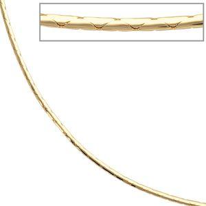 JOBO Halskette Kette 585 Gold Gelbgold 42 cm Karabiner
