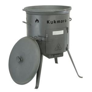Set-Kaufbei Taschkent Kasan 17 Liter mit Deckel und Feuerofen: Kasan | Deckel | Kazan | Gusseisen | Wok | Gulaschkanone