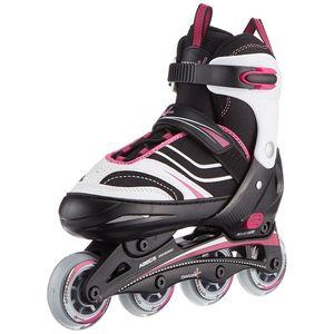 Muuwmi inline-Skates Kinderliner rosa/schwarz Juniorgröße 29-32