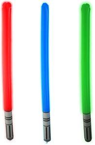 Aufblasbares Lichtschwert, Laserschwert, Laser Schwert, aufblasbar, 3 Stk.