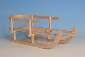 Puppen-Schlitten Holz, L: 46cm/B: 20cm