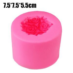Silikon Kerzenform 3D Rose Kerze würfel Aromatherapie Seifenform Kerzengießform Größen : Groß