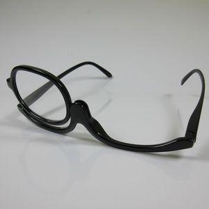 Praktische Schminkbrille schwarz +1,5 Lesebrille Make-up Brille Federbügel