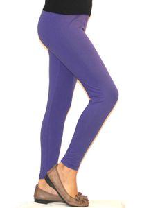 Kinder Mädchen Leggings lang blickdicht aus Baumwolle Hose   Violett  134