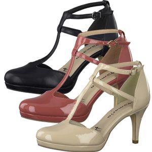 Tamaris 1-24426-24 Damen Schuhe Pumps T-Steg Plateau, Größe:40 EU, Farbe:Beige