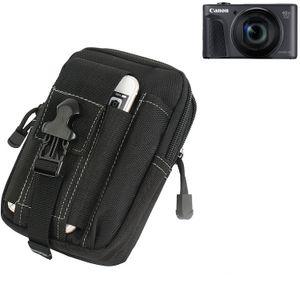 Für Canon PowerShot SX730 HS Gürteltasche / Holster schwarz Schutz Hülle Kameratasche Fototasche Case Bag für Canon PowerShot SX730 HS