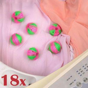 18 X Fusselbälle Waschbälle Flusenbälle Antistatikfolie gegen Fusseln Haare