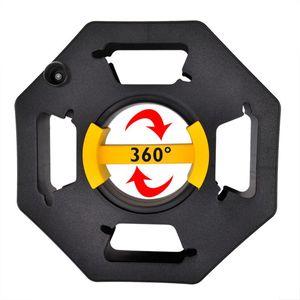ProPlus Kabeltrommel ohne Kabel 33 cm Kabelrolle leer Kabelwickler Megaspule Handkabeltrommel 360° Griff Gartenkabeltrommel