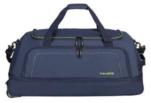 Travelite Basics faltbare Rollen Reisetasche Falttasche Duffel Trolley, Farbe:Marine