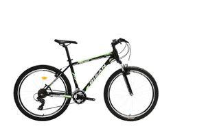 27,5 Zoll Alu Aluminium Herrenrad Herren Jugend MTB Fahrrad Mountainbike Jugendfahrrad 21 Gang Shimano Bike Rad Gabelfederung Federgabel Beleuchtung 7050 grün
