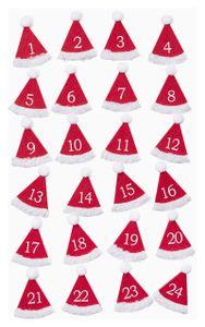 Nikolausmützen 1-24, Filz mit Klebepunkt