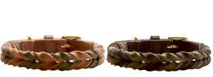 Hunter Halsband Solid Education Duo versch. Farben und Größen , Größe:40, Farbe:cognac/oliv