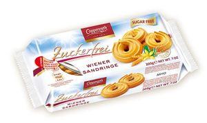Coppenrath zartes Spritzgebäck Wiener Sandringe zuckerfrei 200g