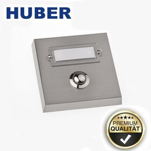 Türklingel HUBER 12046 Haustürklingel Echtmetall Klingelknopf 1fach ap
