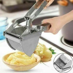 Kartoffelpresse Edelstahl Kartoffelstampfer Küchenpresse Gemüse Reibe Kartoffel Presse