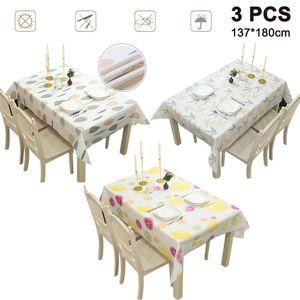 Tischdecken Wachstischdecke Gartentischdecke, Abwaschbar Meterware, 180cm x 137cm