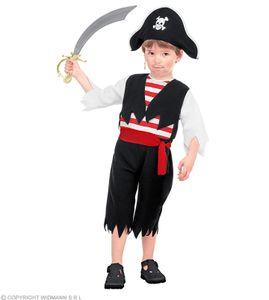 Piratenkostüm für Kinder - Piratenverkleidung  - Piraten Kostüm ab 2 Jahren 104 cm