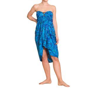 PANASIAM Sarong B Wachsbatik blue, Farbe/Design:B003 Blauton