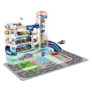 Elektrische Rennstrecke Stadtparkplatz Garage Spielzeugrampenbau