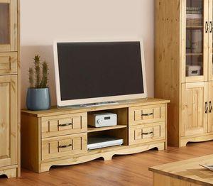Lowboard TV-Board TV-Element Fernsehtisch 148cm Kiefer Massiv natur