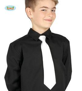 weiße Krawatte für Kinder ca. 29 cm