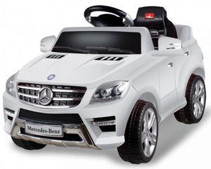 Kinder Elektro Auto Mercedes ML350 Kinderauto Kinderfahrzeug Elektrofahrzeug 50W, Farbe:weiß