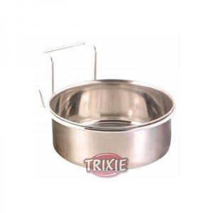 Trixie Edelstahlnapf mit Halter 900 ml