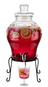APS Getränkespender -FRUITS-  /// Ø 25 cm, H: 58 cm, 10,5 Liter  /// Behälter und Deckel aus Glas  /// Dichtung aus Polyethylen /// 10415