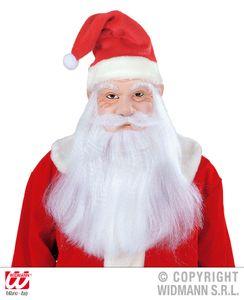 Weihnachtsmann Maske Nikolausmaske mit Perücke, Bart