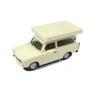 Herpa 024181-002 Trabant 601 Kombi mit Dachzelt weiss Maßstab 1:87 Modellauto