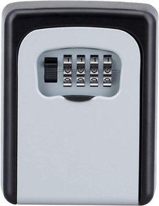 Schlüsseltresor mit Zahlencode für Draußen, Schlüsselbox mit 4-Stelliger Zahlenkombination, Klein Schlüsselkasten mit Code, Schlüsselsafe Wetterfeste für Hausschlüssel Versteck