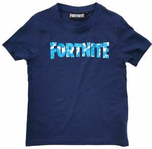 Fortnite T-Shirt dunkel blau Logo Größe 152